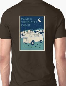 VW Bay Window Bus - Home Is Where You Park It T-Shirt