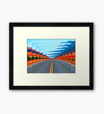 INFINITY ROAD Framed Print