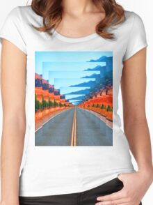 INFINITY ROAD Women's Fitted Scoop T-Shirt