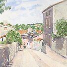 Down the Barbican Ramp, Montbron, France by ian osborne