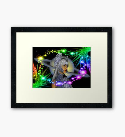 Saturn Rising Framed Print