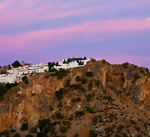 Casares from the West, evening. by Liza Kirwan