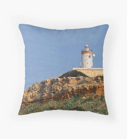 Ta' Ġurdan Lighthouse Throw Pillow