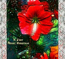 Victorian Christmas Greeting Card by RC deWinter