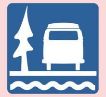 VW Bay Window Bus Camping One Piece - Short Sleeve