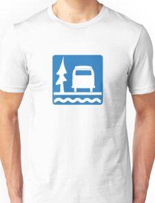 VW Bay Window Bus Camping Unisex T-Shirt