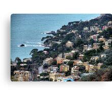 liguria coast Canvas Print