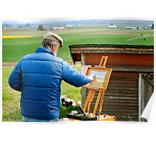 Painting the Tulip Fields... Poster