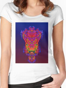 Reflection Abstract Women's Fitted Scoop T-Shirt