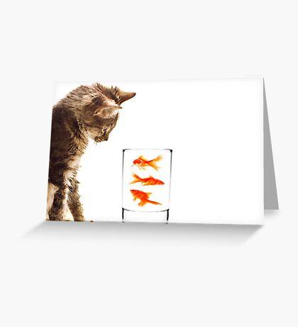 A kittens curiosity Greeting Card