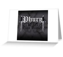 Phury - [ the Black Dagger Brotherhood ] Greeting Card