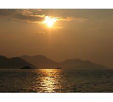 Sunset home Photographic Print