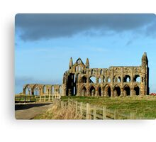 Whitby Abbey ruined yet still glorious Canvas Print