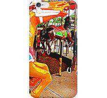 Flying Horsey With Red Saddle iPhone Case/Skin