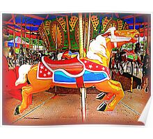 Flying Horsey With Red Saddle Poster