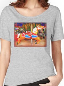 Flying Horsey With Red Saddle Women's Relaxed Fit T-Shirt