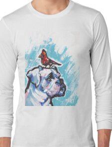 Boxer Dog Bright colorful pop dog art Long Sleeve T-Shirt