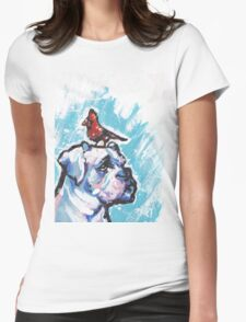 Boxer Dog Bright colorful pop dog art Womens Fitted T-Shirt