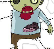 Exploded Zombie Sticker