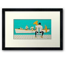 On The Beach - Yellow Shoes Framed Print