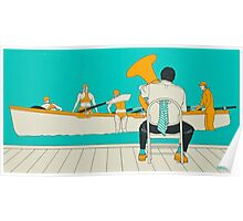 On The Beach - Yellow Shoes Poster