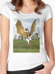 Stonehenge Dragon Women's Fitted Scoop T-Shirt