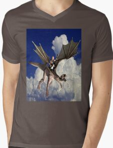 Music in the Clouds Mens V-Neck T-Shirt