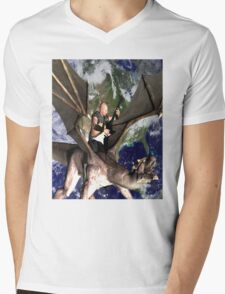Dragon Song 2 Mens V-Neck T-Shirt