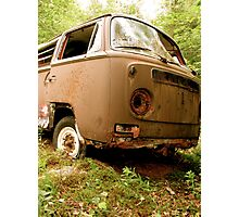 Used & Abused VW Bus Photographic Print