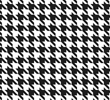 Classic Houndstooth Pattern by Lisann