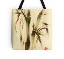 """""""Awareness"""" Sumi-e bamboo painting on paper Tote Bag"""