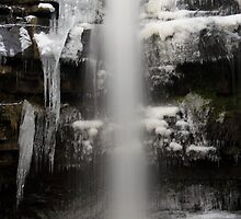 Waterfall at Gibsons Cave In Winter by Bullboy1983