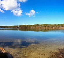 White Pond Panorama by Christopher Seufert