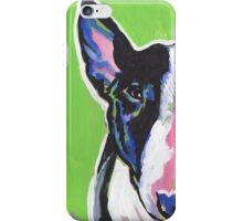 Bull Terrier Dog Bright colorful pop dog art iPhone Case/Skin