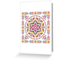 Ethnic Vintage Ornament With Mandala. Greeting Card