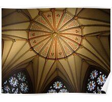 Chapter House Ceiling, York Minster! Poster