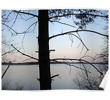 Simple Elegance. Sunset Over The Water, New Jersey Nature Poster