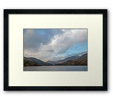 Llyn Gwynant Lake in Autumn Framed Print