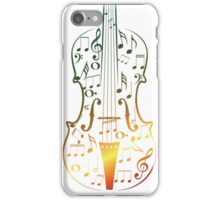 Colorful Violin with Notes iPhone Case/Skin
