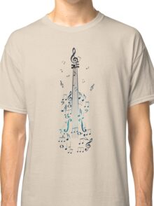 Blue Violin with Notes Classic T-Shirt