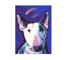 Bull Terrier Dog Bright colorful pop dog art Art Print
