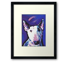 Bull Terrier Dog Bright colorful pop dog art Framed Print