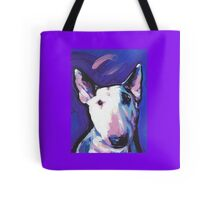 Bull Terrier Dog Bright colorful pop dog art Tote Bag