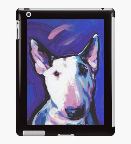 Bull Terrier Dog Bright colorful pop dog art iPad Case/Skin