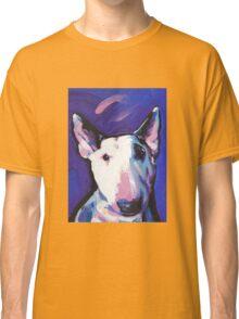 Bull Terrier Dog Bright colorful pop dog art Classic T-Shirt