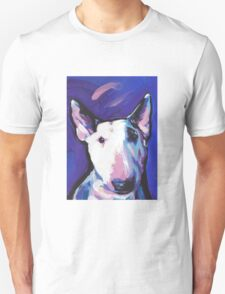 Bull Terrier Dog Bright colorful pop dog art T-Shirt