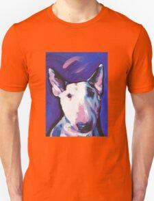 Bull Terrier Dog Bright colorful pop dog art Unisex T-Shirt