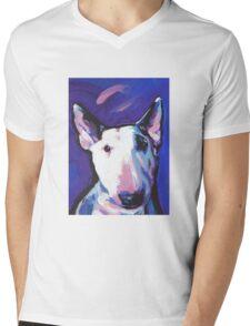 Bull Terrier Dog Bright colorful pop dog art Mens V-Neck T-Shirt