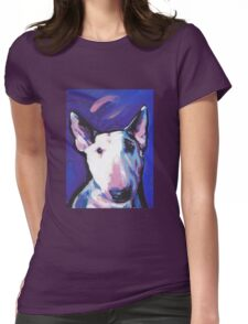 Bull Terrier Dog Bright colorful pop dog art Womens Fitted T-Shirt