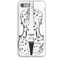 Violin with Notes iPhone Case/Skin